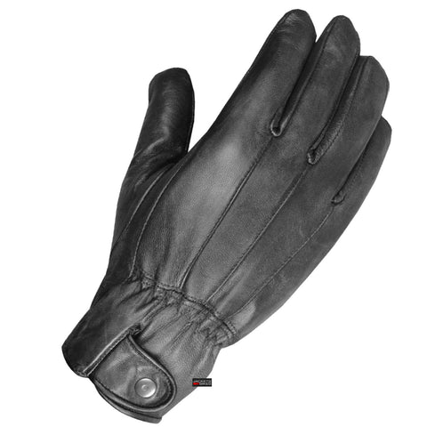 Premium Bareeze Lambskin Mens Driving Dress Gloves Thinsulate Lined Black