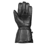 New Reflective Motorcycle Biker Riding Winter Sheep Leather Gloves Black