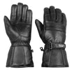 Motorcycle Biker Riding Sheep Leather Gloves Flexible Stretch SL7 Black