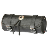 LEATHER MOTORCYCLE TOOL BAG BAGS BOX FORK SADDLEBAGS