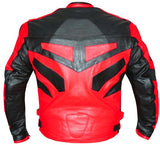 NEW MOTORCYCLE SPEED RACING ARMOR LEATHER JACKET Red