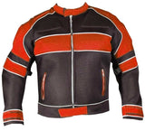 [Velocity] Men's Mesh Motorcycle Riding Jacket Orange [Light Weight] Biker