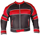 [Velocity] Men's Mesh Motorcycle Riding Jacket Red [Light Weight] Biker
