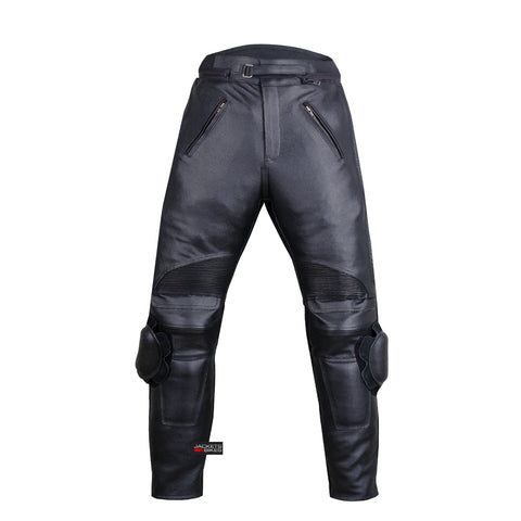 Motorcycle RACING ARMOR LEATHER PANTS w/ Slider