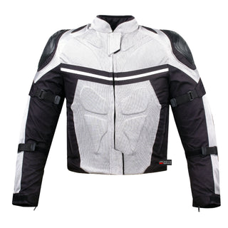 choose latest 2019 wholesale price offer PRO MESH MOTORCYCLE JACKET RAIN WATERPROOF WHITE