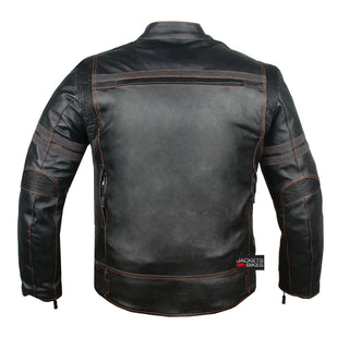 0f82311b ... Mercury Highly Vented Men's Motorcycle Leather Jacket with Armor cow ...