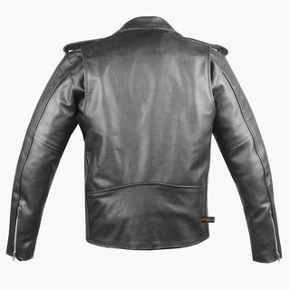 Men S Classic Leather Motorcycle Jacket Biker Style Chopper Police