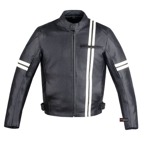 IRON BIKER MOTORCYLE NEW LEATHER ARMOR JACKET BLACK