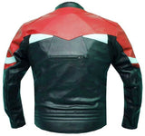 NEW XR VENTED MOTORCYCLE LEATHER ARMOR JACKET Red