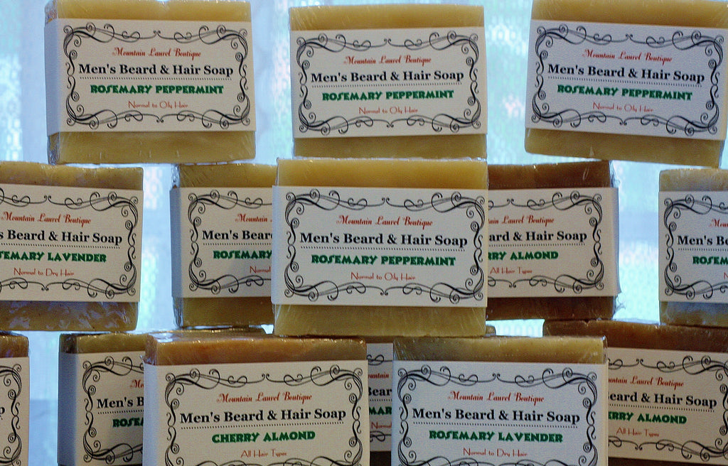 Cherry Almond Hair, Body and Beard Soap ( All Hair Types)