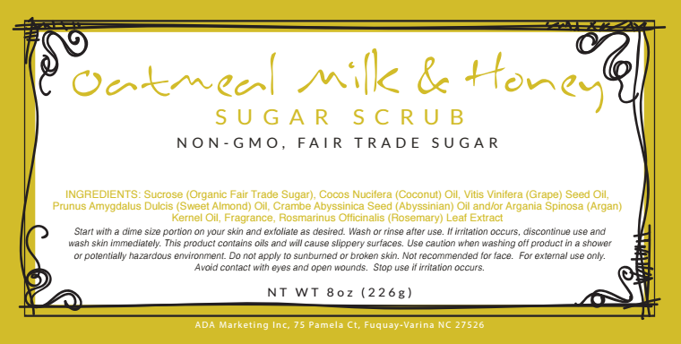 Oatmeal Milk & Honey Sugar Scrub