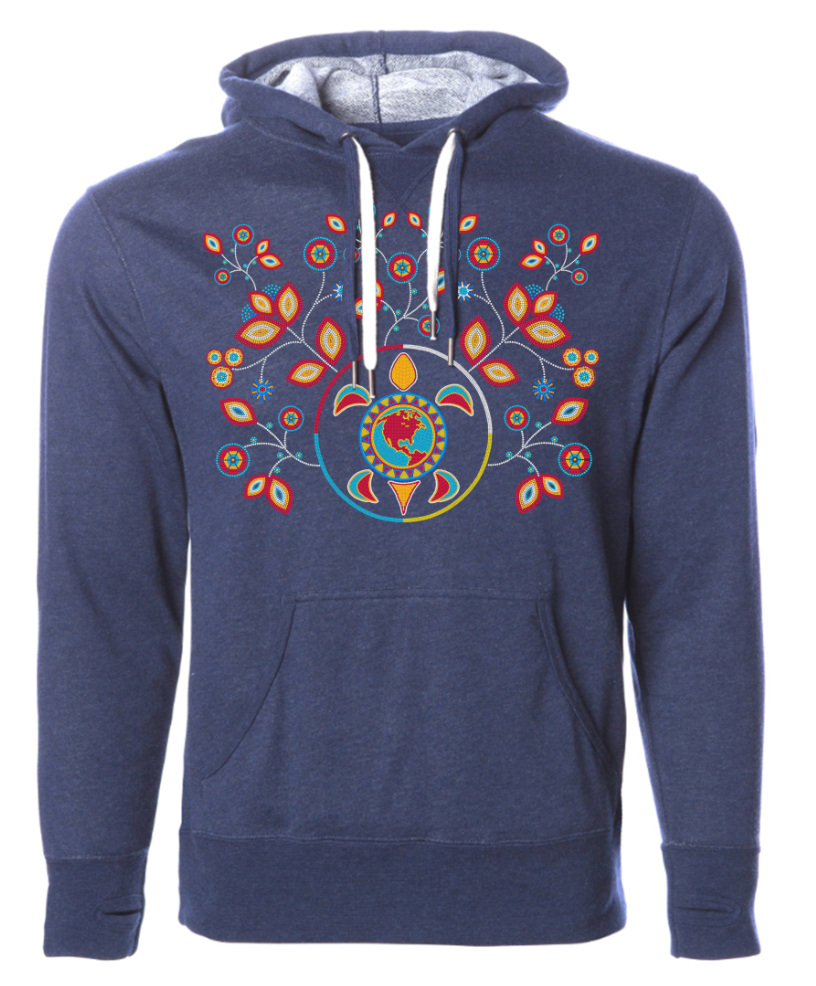 BEADED TURTLE ISLAND / UNISEX PULL-OVER HOODY