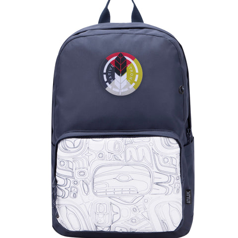 Smoke Signals, Native Culture Shop, Totem Backpacks, Paint A Pack, Navy Blue
