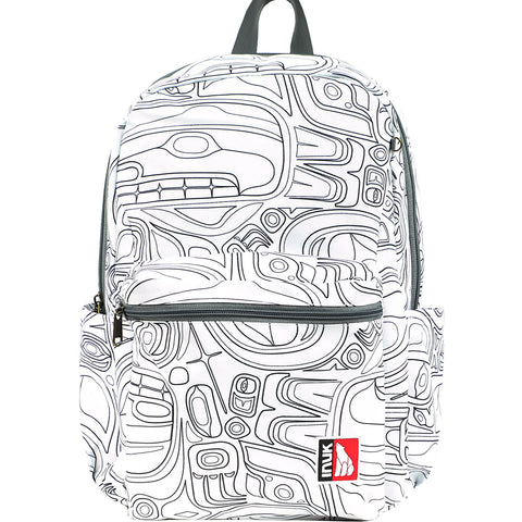 Smoke Signals, Native Culture Shop, Totem Backpacks, Paint A Pack, White