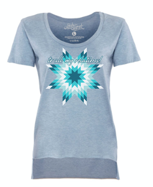 MORNING STAR / WOMAN'S SCOOP NECK FASHION TEE