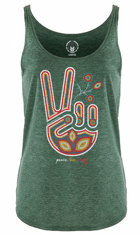 BEADED PEACE, LOVE & UNITY / WOMEN'S TANK