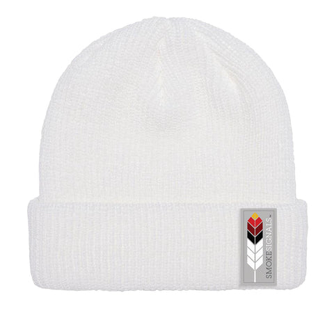 Smoke Signals, Native Culture Shop, White Beanie