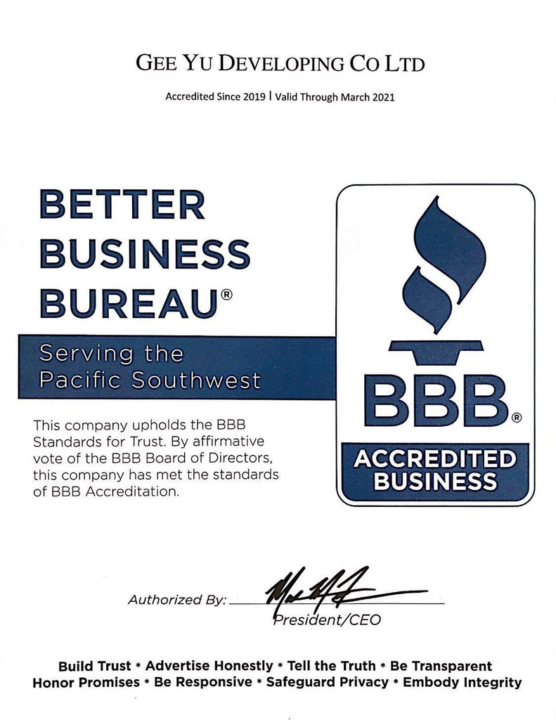 We are BBB authorized business partner!