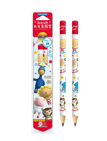 SIMBALION Preschool Children Pencil with Sharperner