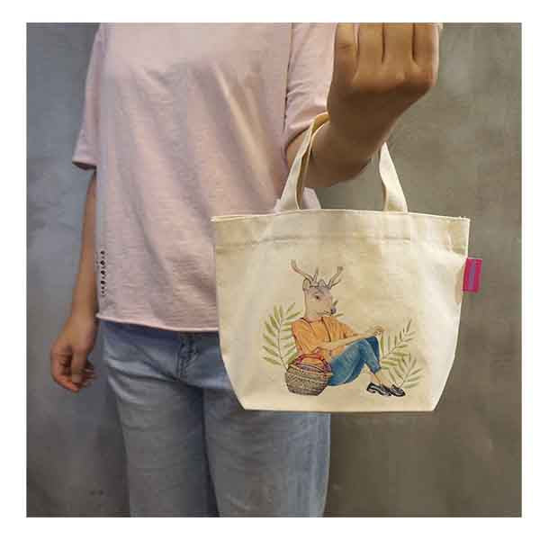 Hoop Eco-friendly Reusable Canvas Bag #Reindeer
