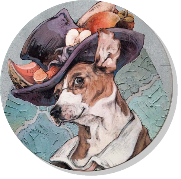 IMIN Hsu Jose Pet Series Absorbent Ceramic Coaster