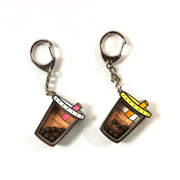 Boba tea key chain - Valentine's set
