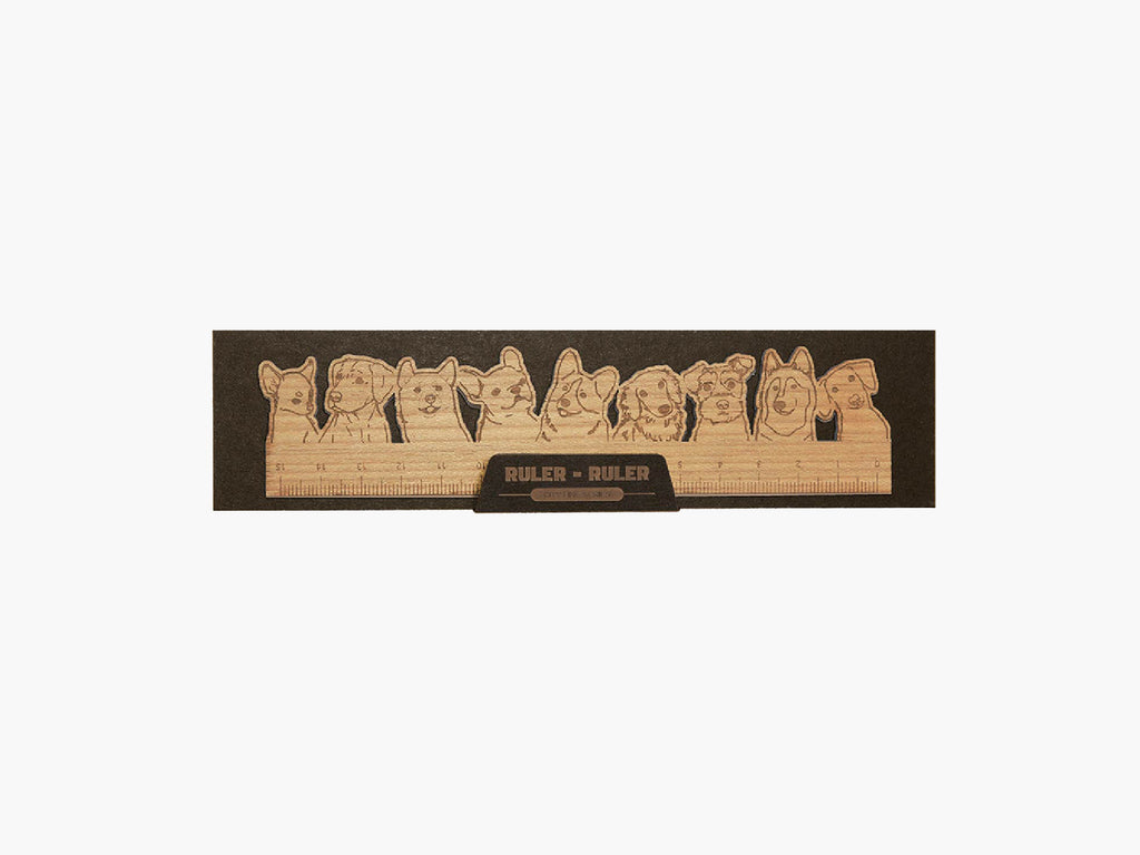 IMIN - Wooden ruler Ruler Ruler - original print limited edition - Friendly pet models