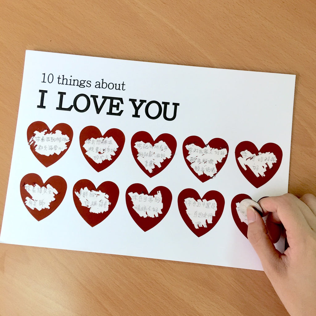 Scratch Ten Things I Love You