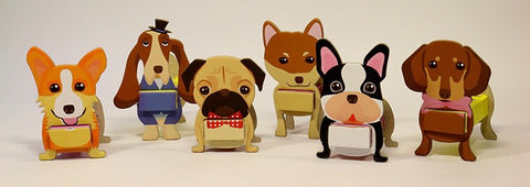 Carton King Cute Dogs Pen Holder