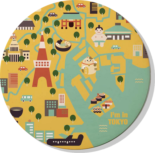 IMIN Tokyo Limited Series Absorbent Ceramic Coasters