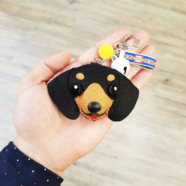 BABY CAT Hand-sewn Wool Felting Dog Keychain