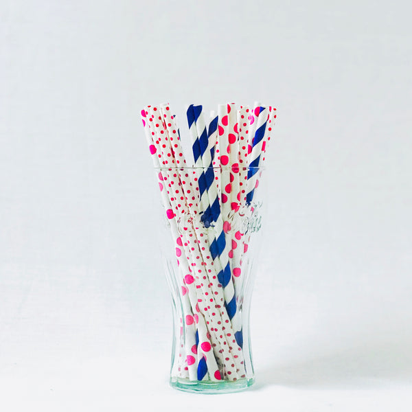 24 pcs biodegradable Paper Straw