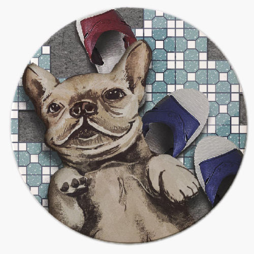 IMIN-Lack of Brick Pet Series Absorbent Ceramic Three-dimensional Coaster