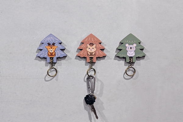 DAZZY LIFE Key House - Tree series #Fawn #Koala #Pig