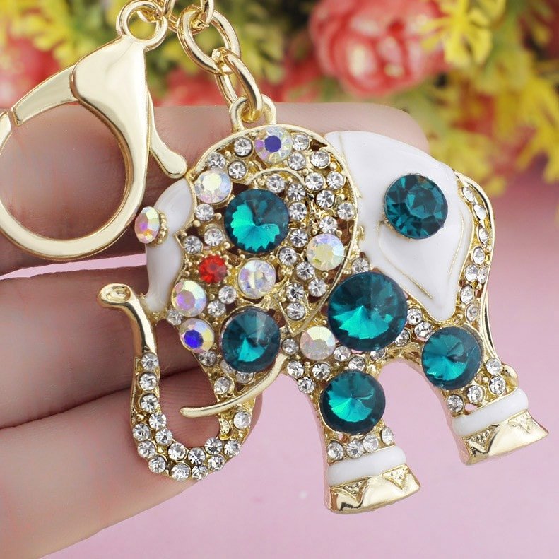 Beautiful Crystal Elephant Key Chain [FREE Secured Shipping!]