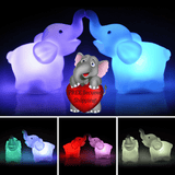 Image of Elephant Color Changing LED Night Lights [Pack of Two]