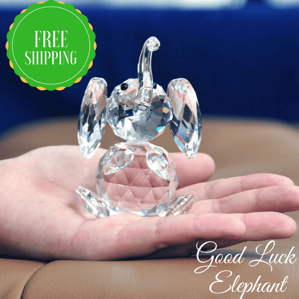 Good Luck Crystal Elephant Figurine [FREE Shipping!]