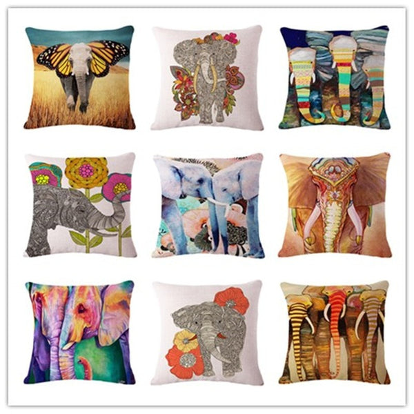 Handmade Elephant Print Cushion Covers [FREE Secured Shipping!]