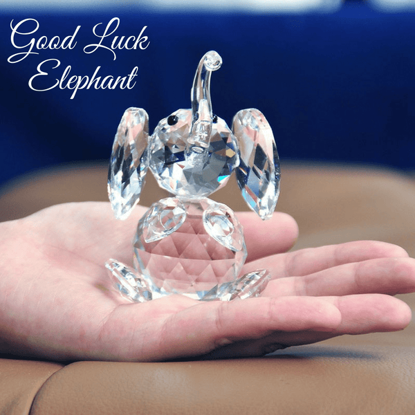 Good Luck Crystal Elephant Figurine