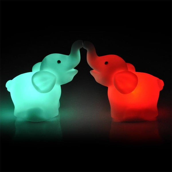 Elephant Color Changing LED Night Lights [Pack of Two]