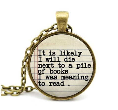 Book Lover Until Death Charm Necklace