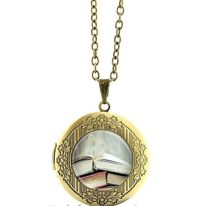 Book Lover Pendant Necklace