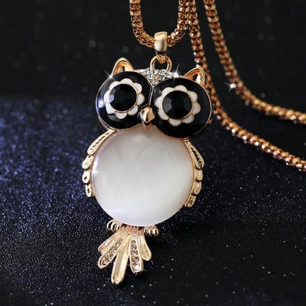 Owl Crystal Charm Pendant Necklace - 5 Options