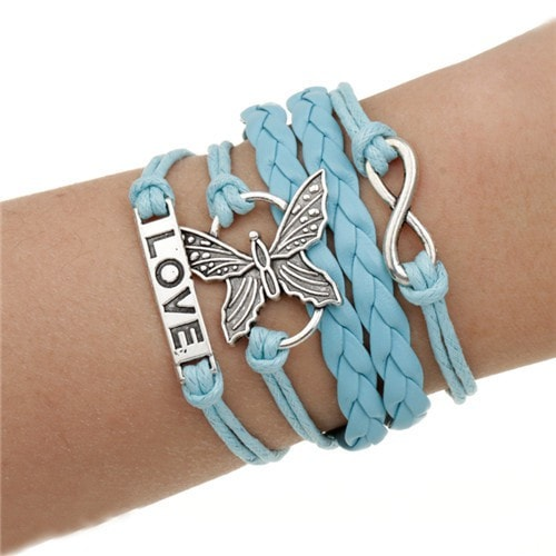 Butterfly Love Leather Multilayer Charm Bracelet - MyRiviv