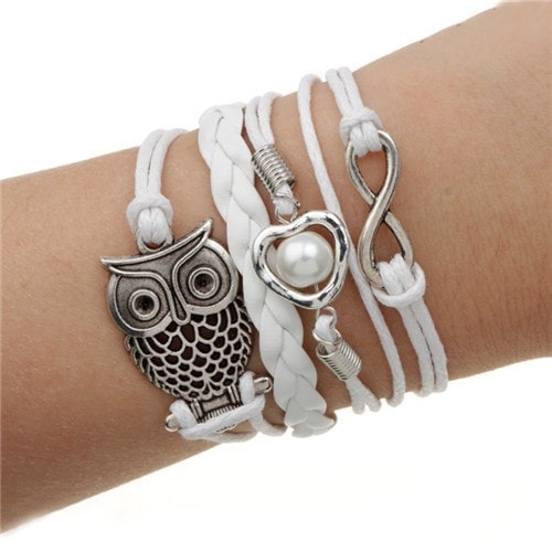 Owl Leather Multilayer Charm Bracelet - MyRiviv