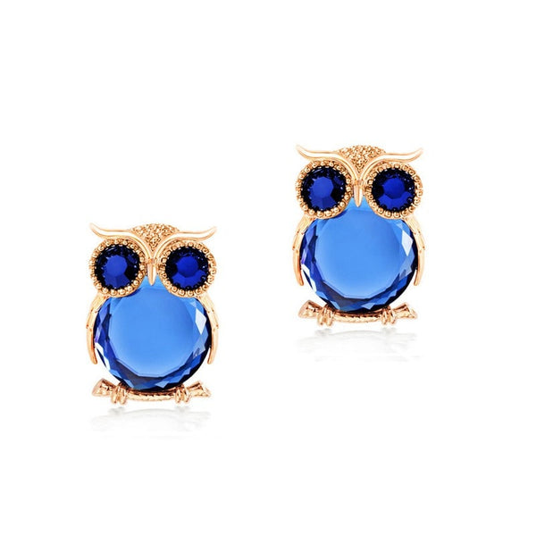 Crystal Owl Ear Rings