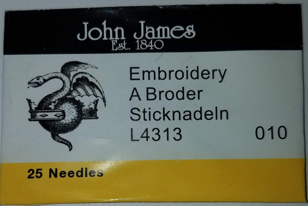 John James Embroidery/Crewel #10 Needles