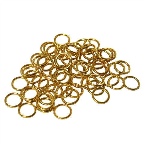 Sew on rings, Brass, 3/8 Iinch Diameter