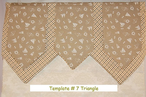 Triangular Valance Template #7