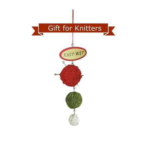 Knitting Ornament - Knit Wit